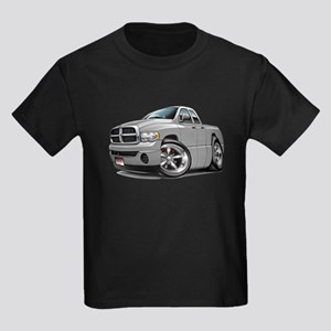 Dodge Ram Silver Dual Cab Kids Dark T-Shirt