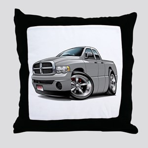 Dodge Ram Silver Dual Cab Throw Pillow