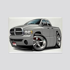 Dodge Ram Silver Dual Cab Rectangle Magnet