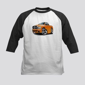 Dodge Ram Orange Dual Cab Kids Baseball Jersey
