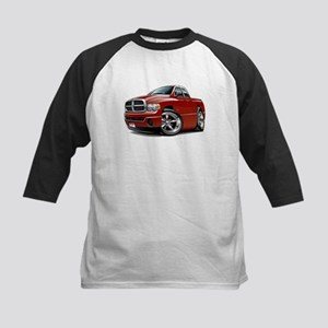 Dodge Ram Maroon Dual Cab Kids Baseball Jersey