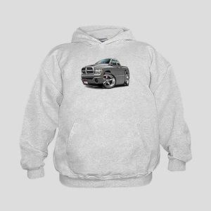 Dodge Ram Grey Dual Cab Kids Hoodie