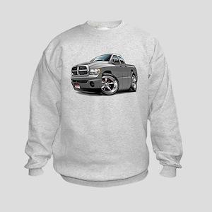 Dodge Ram Grey Dual Cab Kids Sweatshirt
