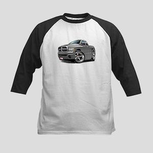 Dodge Ram Grey Dual Cab Kids Baseball Jersey