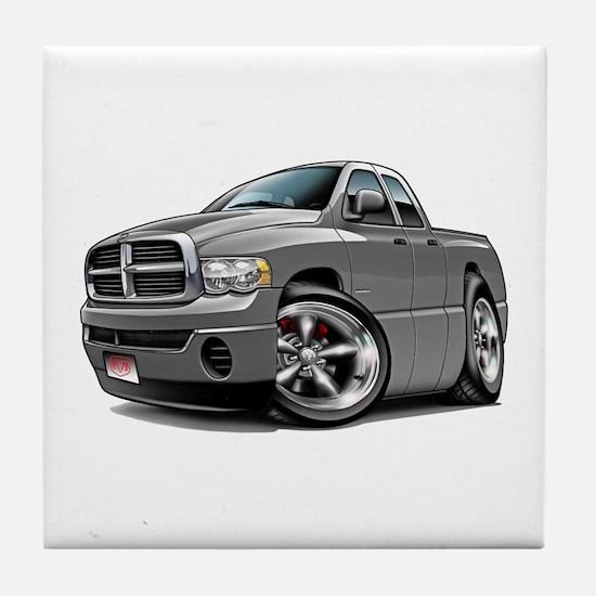 Dodge Ram Grey Dual Cab Tile Coaster