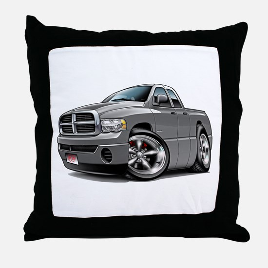 Dodge Ram Grey Dual Cab Throw Pillow
