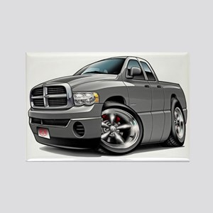 Dodge Ram Grey Dual Cab Rectangle Magnet
