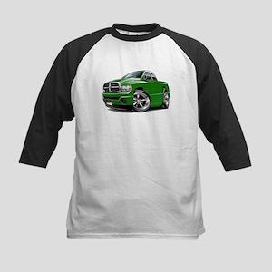 Dodge Ram Green Dual Cab Kids Baseball Jersey