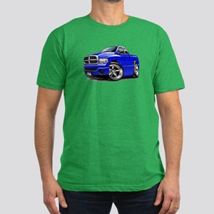 Dodge Ram Blue Dual Cab Men's Fitted T-Shirt (dark