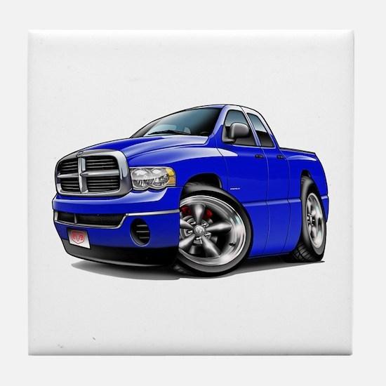 Dodge Ram Blue Dual Cab Tile Coaster