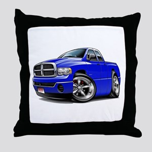 Dodge Ram Blue Dual Cab Throw Pillow