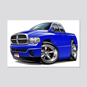 Dodge Ram Blue Dual Cab Mini Poster Print