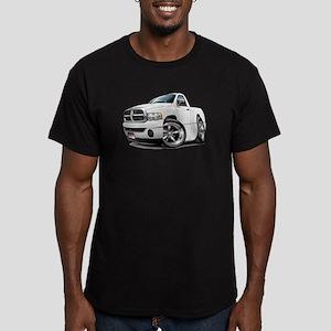 Dodge Ram White Truck Men's Fitted T-Shirt (dark)