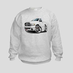 Dodge Ram White Truck Kids Sweatshirt
