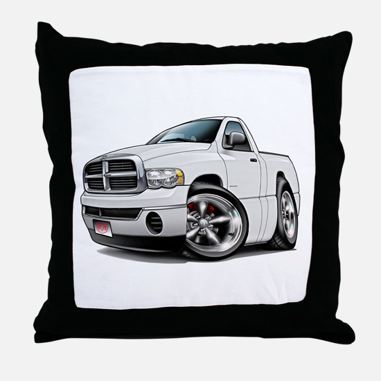 Dodge Ram White Truck Throw Pillow