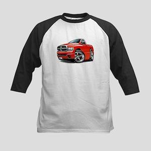 Dodge Ram Red Truck Kids Baseball Jersey