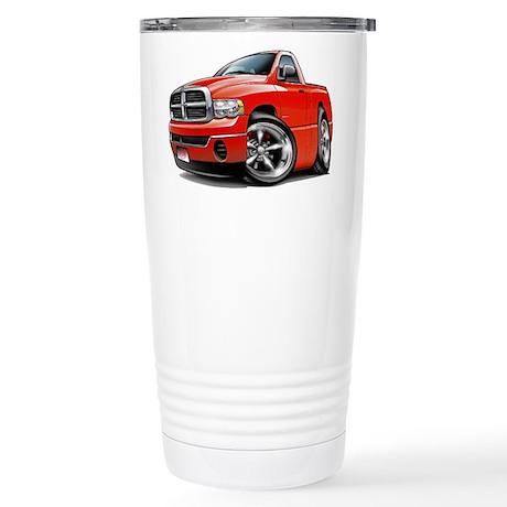 Dodge Ram Red Truck Stainless Steel Travel Mug