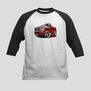 Dodge Ram Maroon Truck Kids Baseball Jersey