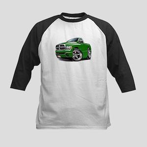Dodge Ram Green Truck Kids Baseball Jersey