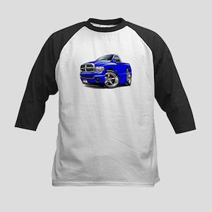 Dodge Ram Blue Truck Kids Baseball Jersey