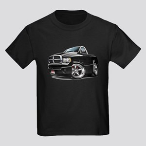 Dodge Ram Black Truck Kids Dark T-Shirt