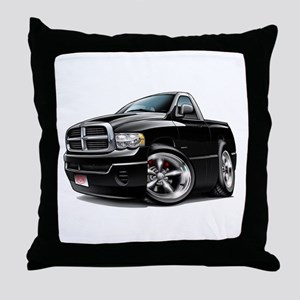 Dodge Ram Black Truck Throw Pillow