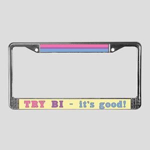 Try Bi License Plate Frame