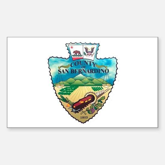 San Bernardino County Rectangle Decal