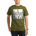 #7004. i love my life Organic Men's T-Shirt (dark)