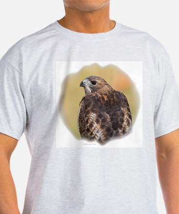 Red Tail Hawk Ash Grey T-Shirt