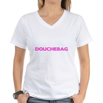 Douchebag Women's V-Neck T-Shirt
