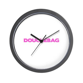 Douchebag Wall Clock