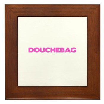 Douchebag Framed Tile