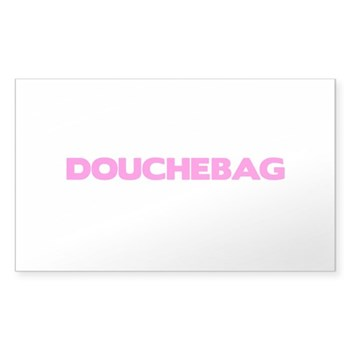 Douchebag Rectangle Sticker
