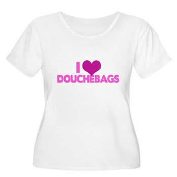 I Heart Douchebags Women's Plus Size Scoop Neck T-