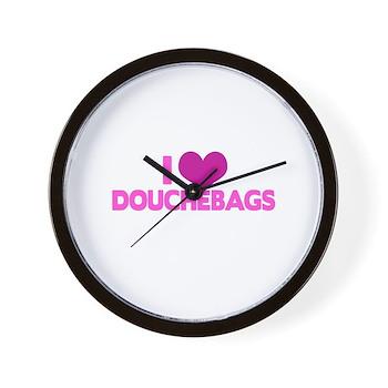 I Heart Douchebags Wall Clock