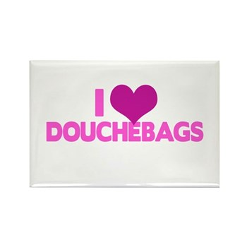I Heart Douchebags Rectangle Magnet