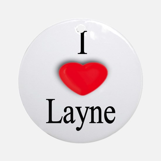 Layne Ornament (Round)