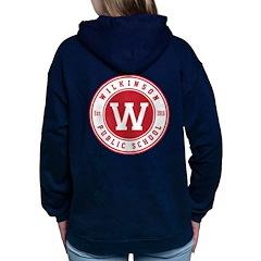 Women's Hooded Sweatshirt - Logo On Back