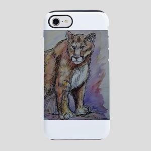 Mountain lion! Wildlife art! iPhone 7 Tough Case