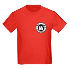 Kids Red T-Shirt - Large Logo On Back