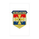 USS Belleau Wood (LHA 3) Rectangle Sticker 10 pk)
