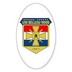 USS Belleau Wood (LHA 3) Oval Sticker (10 pk)