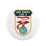 """USS Essex (LHD 2) 3.5"""" Button (100 pack)"""