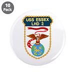 """USS Essex (LHD 2) 3.5"""" Button (10 pack)"""