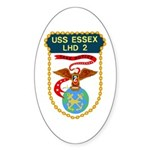USS Essex (LHD 2) Oval Sticker (10 pk)