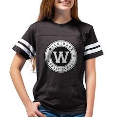 Youth Football Shirt - Black With Logo T-Shirt