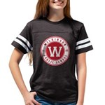 Youth Football Shirt - Black With Red Logo T-Shirt