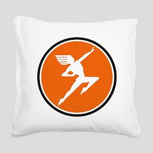 Hiawatha Milwaukee Road Square Canvas Pillow