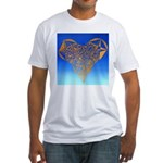 DEC 10TH DAY#344. HEART ? Fitted T-Shirt